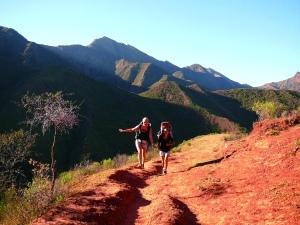 Chemin de l'Inca entre Valle Colorado et Santa Ana