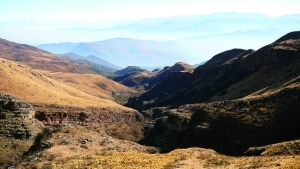 En descendant du Cerro Amarillo