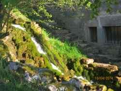 Les Bordes. Cascades près du gîte « La maison d'en-haut »