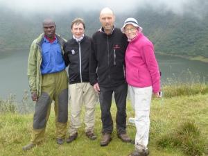 Au sommet du volcan Bisoke