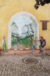 Fresque des grottes de La Palud